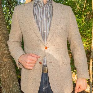 Vintage DH Holmes Wool Blazer (tan)